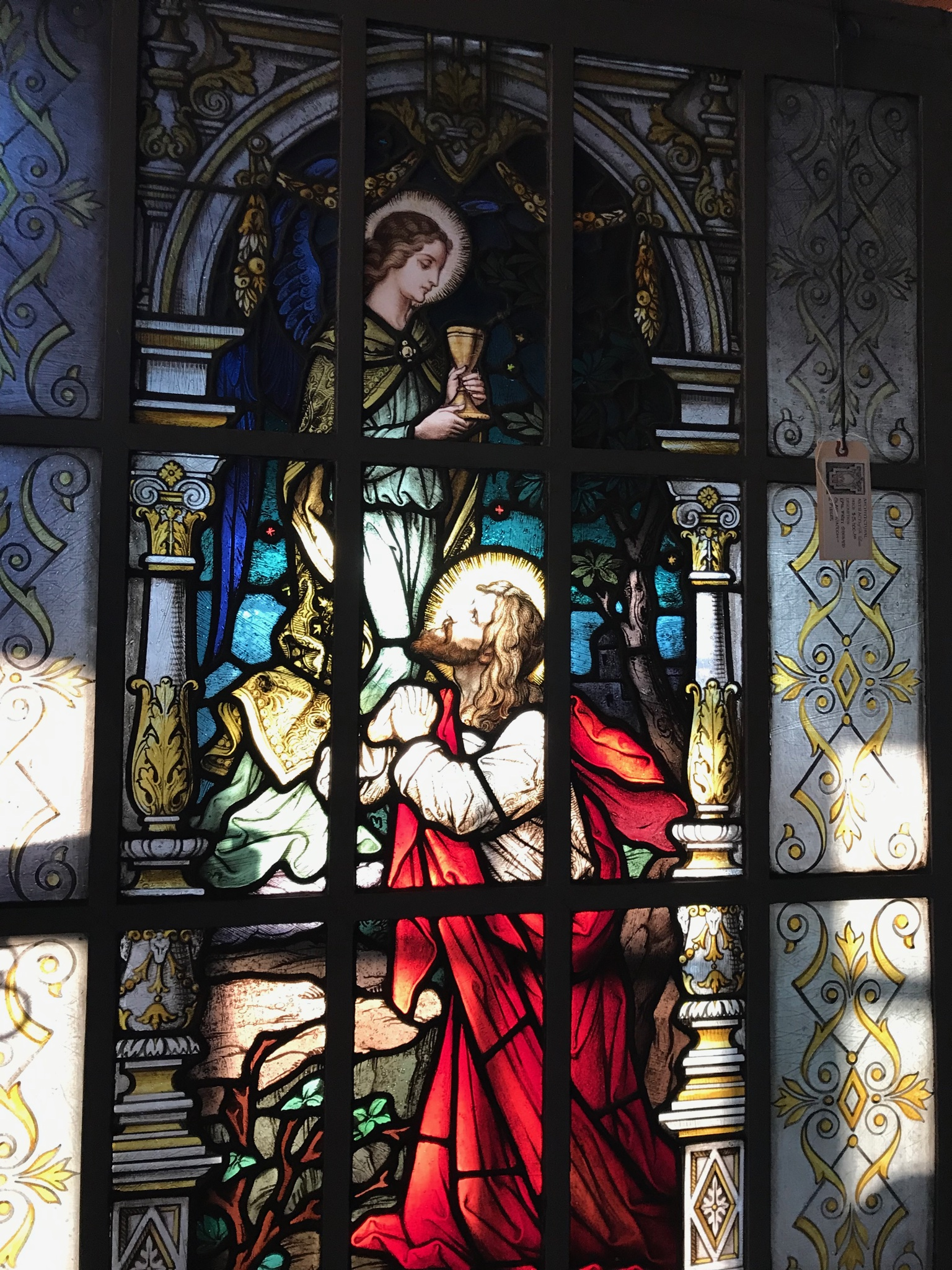 Detail of Emil Frei stained glass window.
