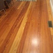 rclaimed long leaf yellow pine as flooring