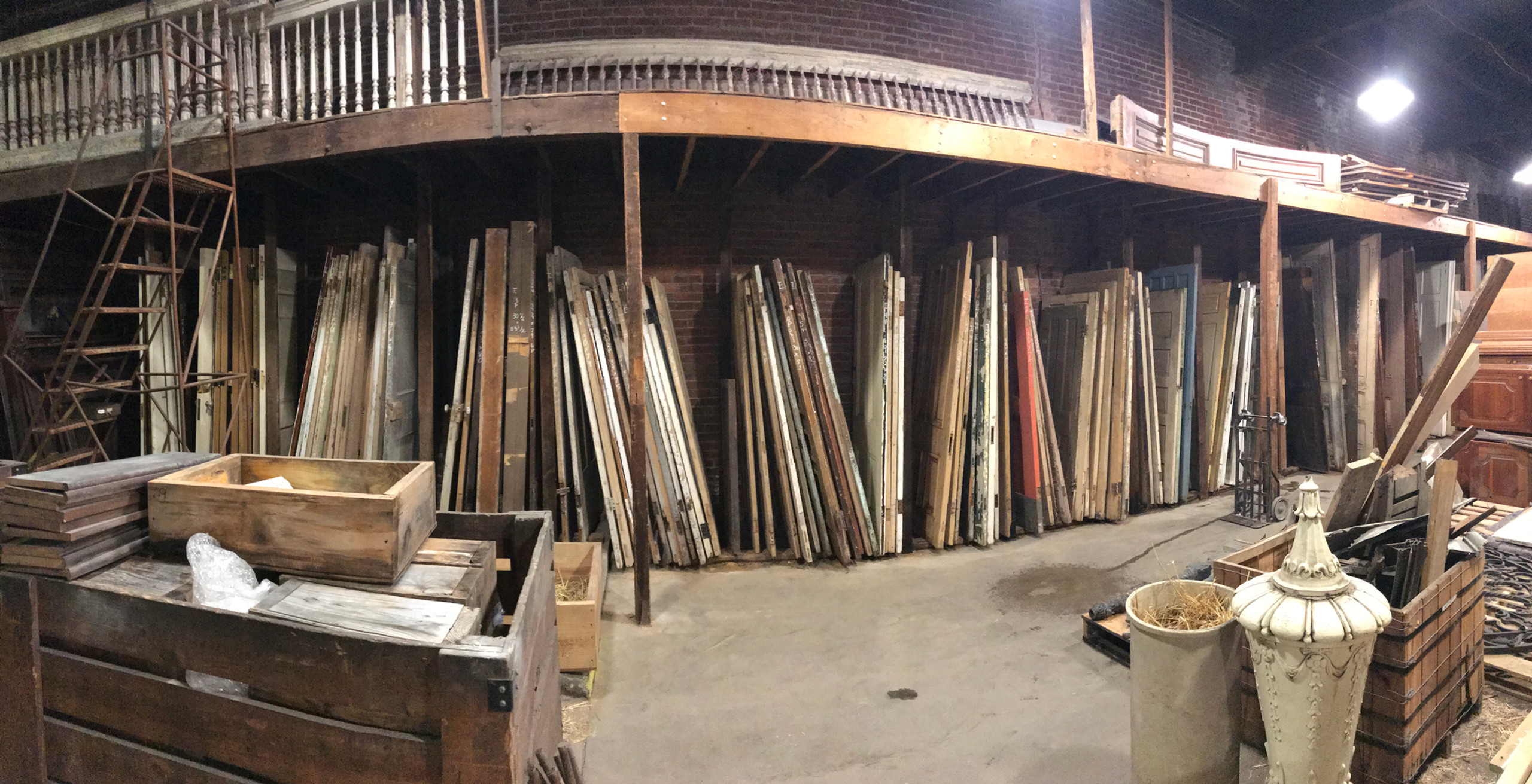 Reclaimed door selection at Architectural Artifacts.