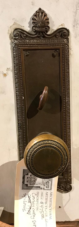 1904 Corbin lock set for entry door.