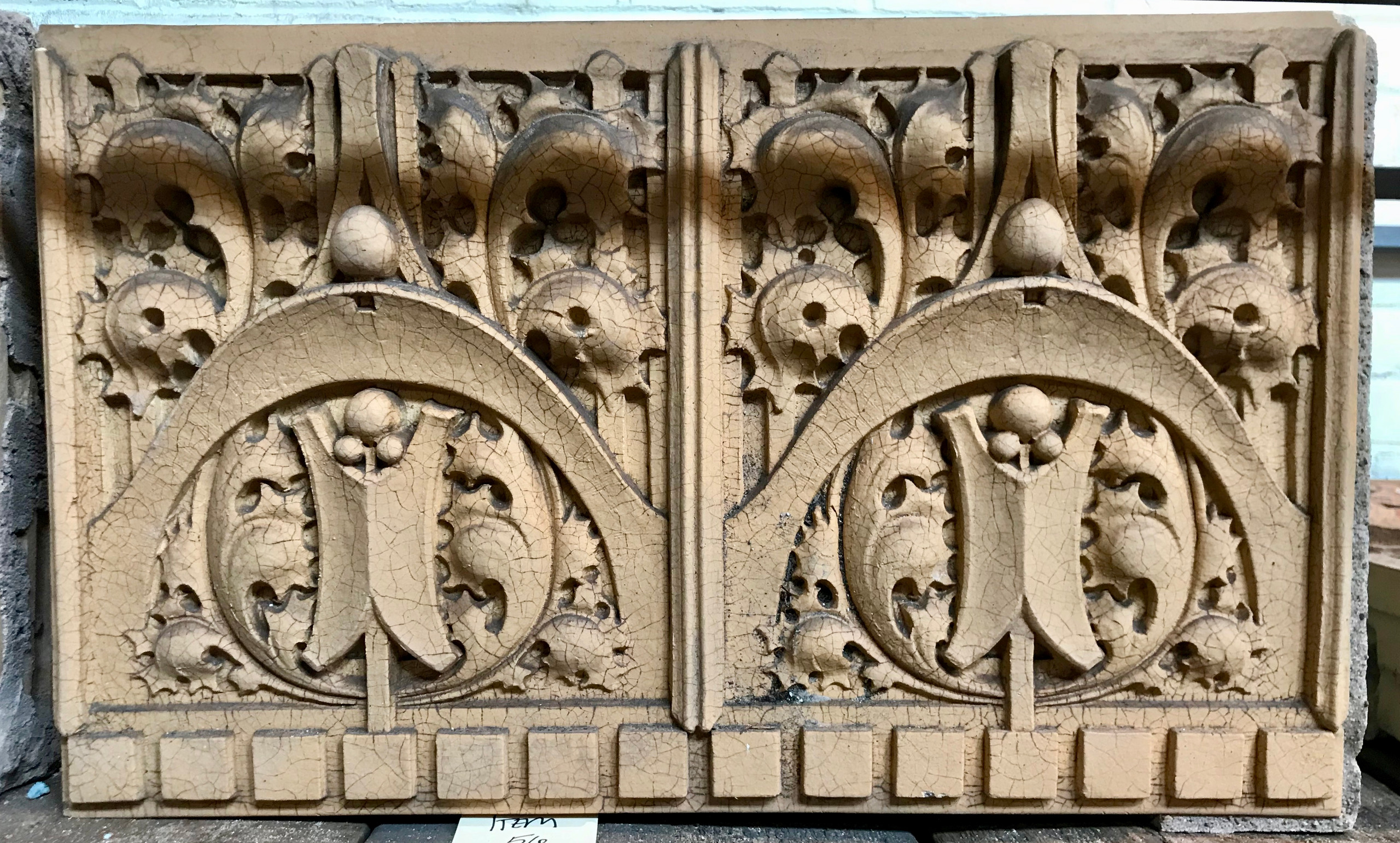 George Grant Elmslie architectural salvage from Hammond Indiana.