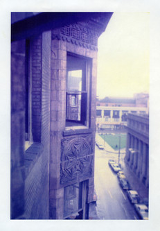 Photo during deconstruction of the St. Nicholas Hotel.