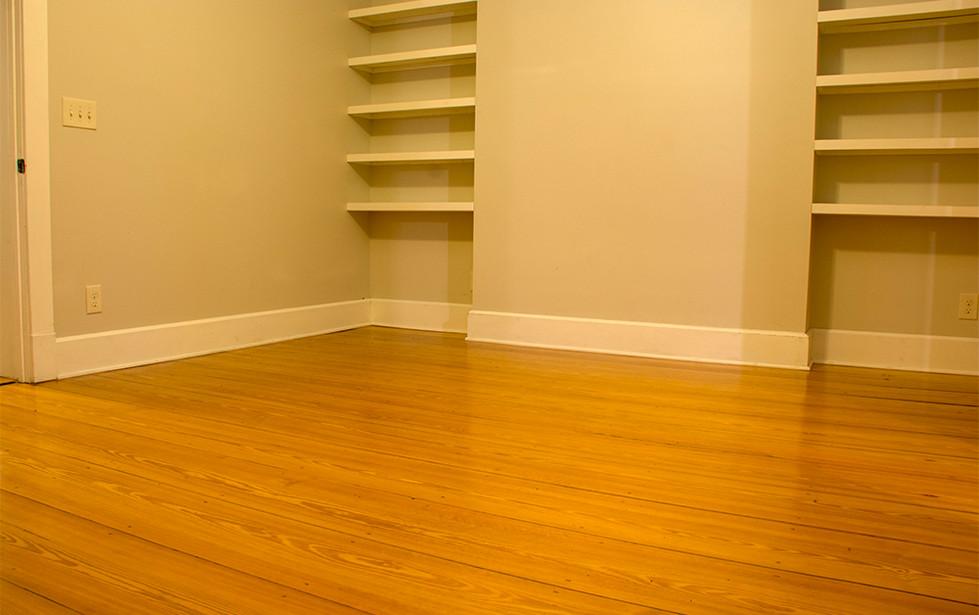 Reclaimed yellow pine floors.