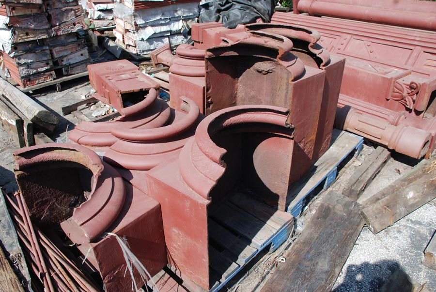 Sandblasted pieces from Vandeventor & Cook Iron Store Front.