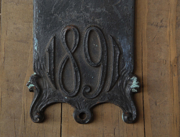 Detail: Wainwright knob and plate.