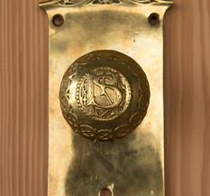 Doorknob detail from the St. Nicholas Hotel.