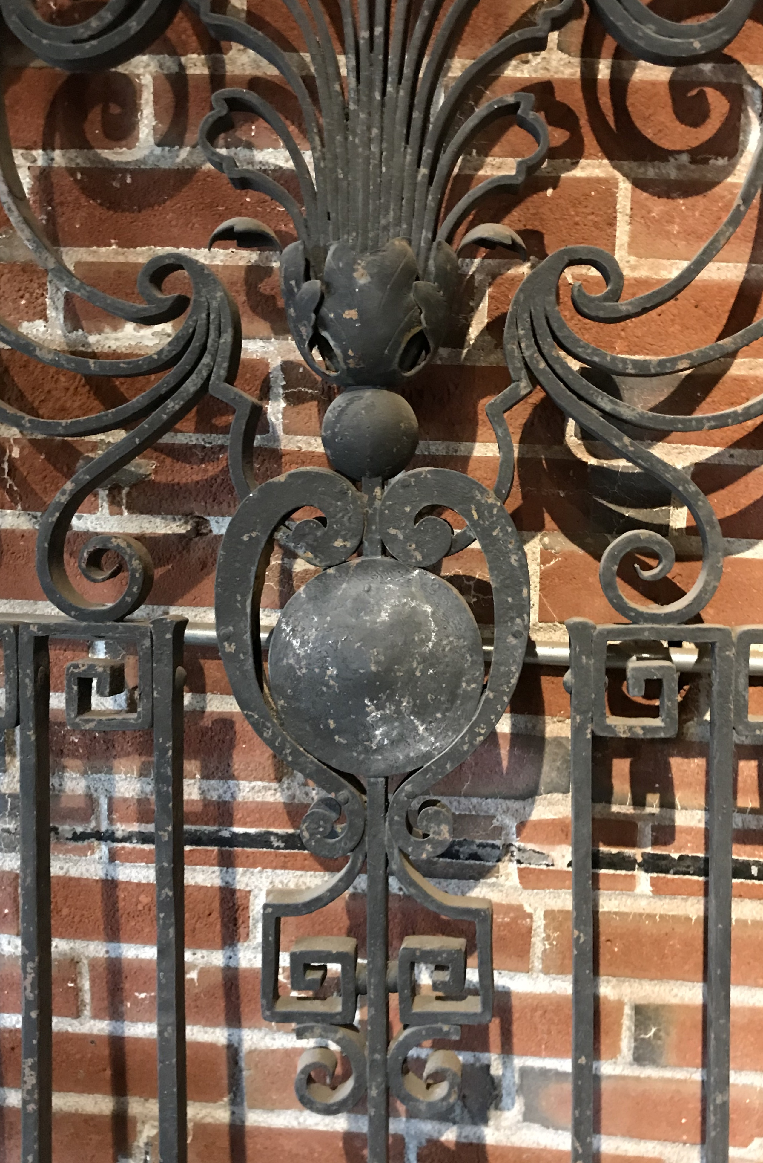 Detail of wrought iron gate.