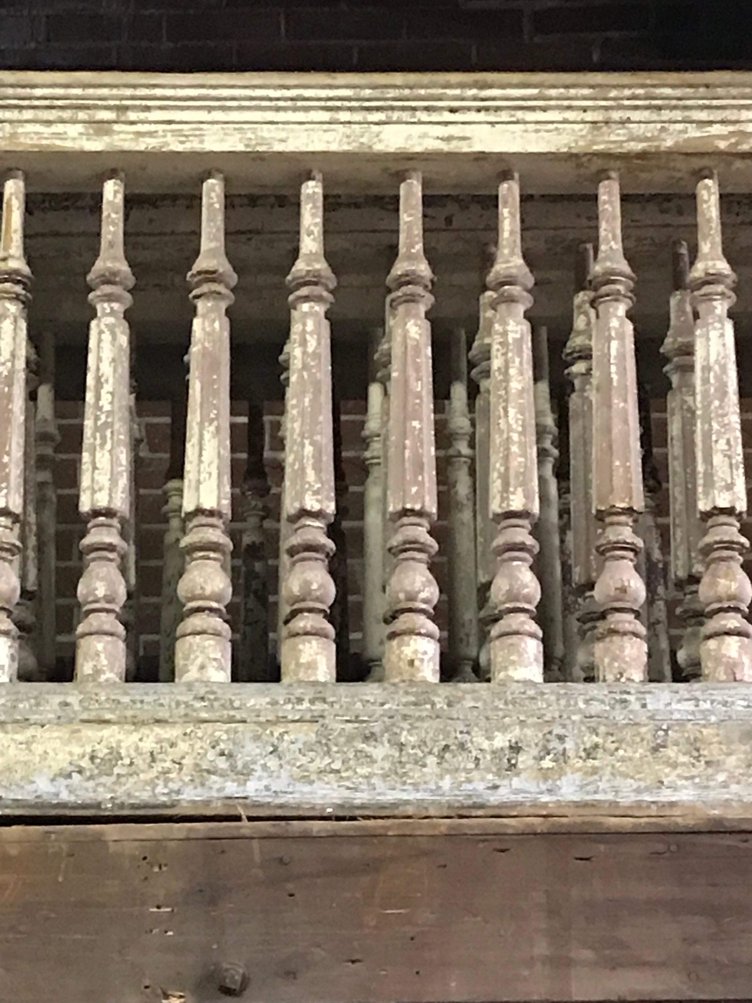 Cypress railings from the Castle Ballroom in St. Louis MO.