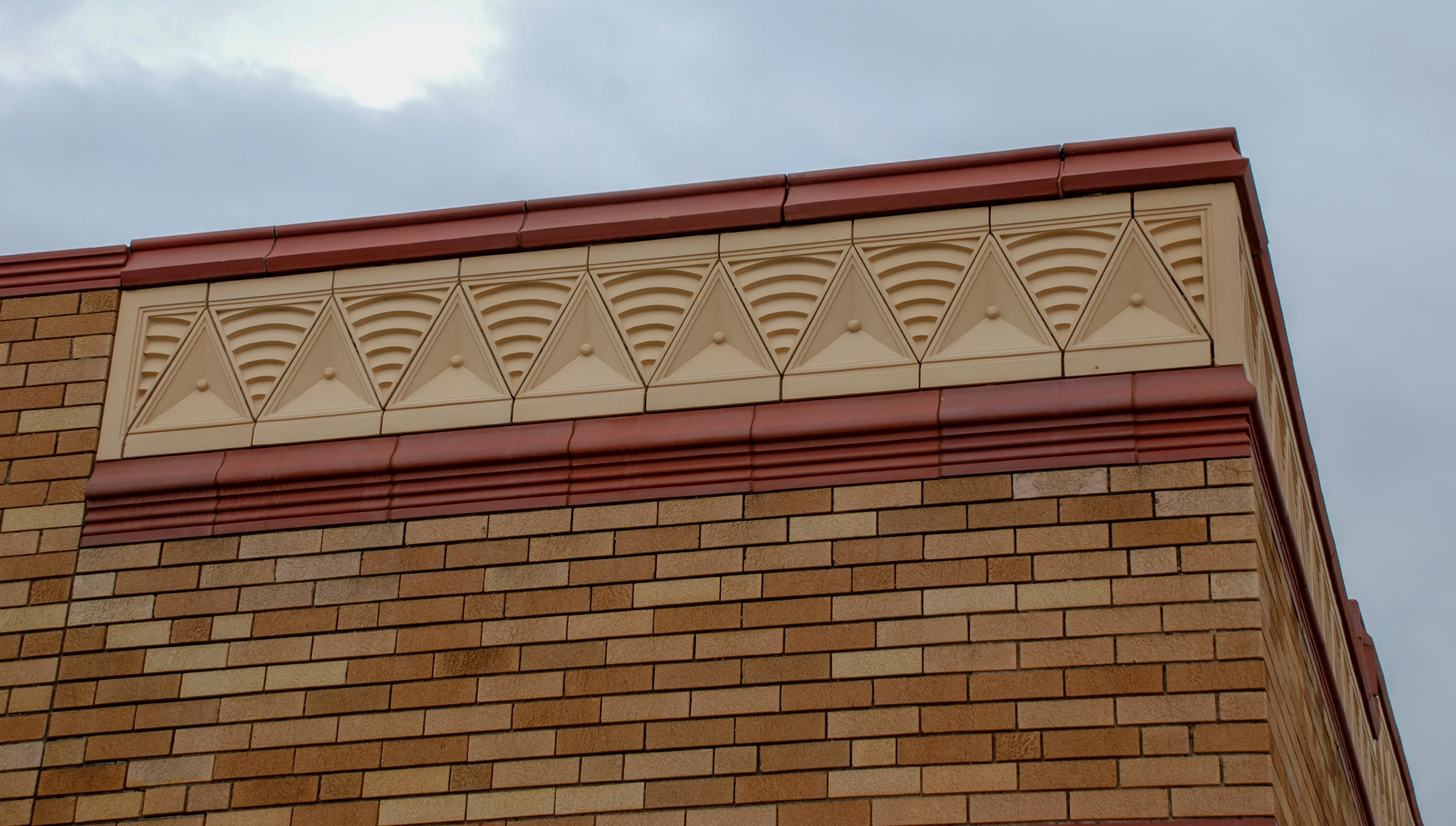 Art Deco in style, this building cornice banding was salvaged in 2008.
