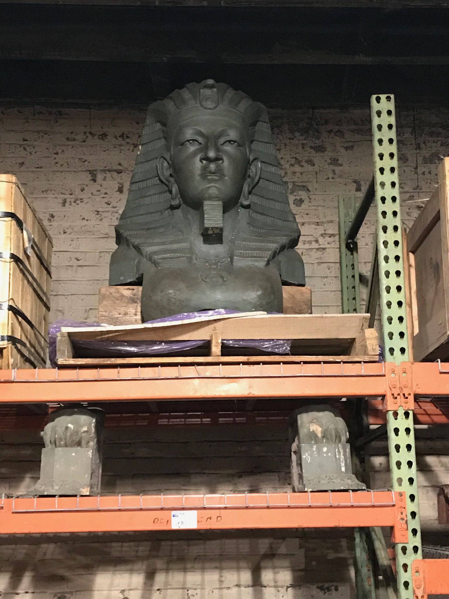 Sphinx from the Shrine Mosque-Mohammed Temple in Peoria Ill.