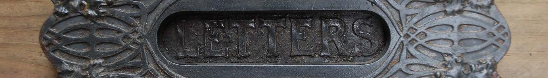 vintage letter box slot