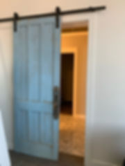 Pocket door used as a sliding door in a loft, from Architectural Artifcts of St. Louis