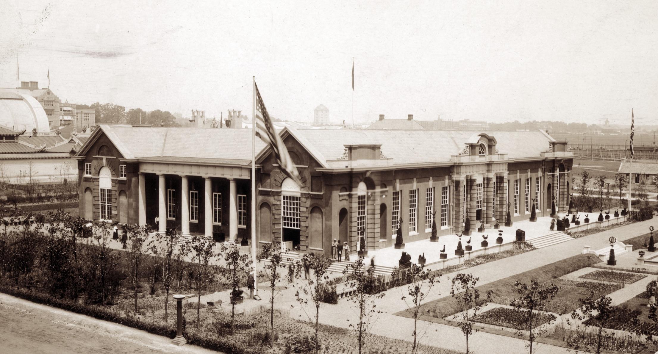 St. Louis 1904 Worlds's Fair, The British Pavilion, Orangery.