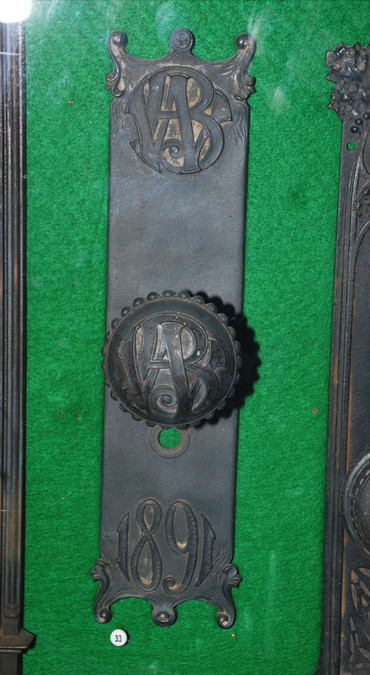 Wainwright Building knob and plate.