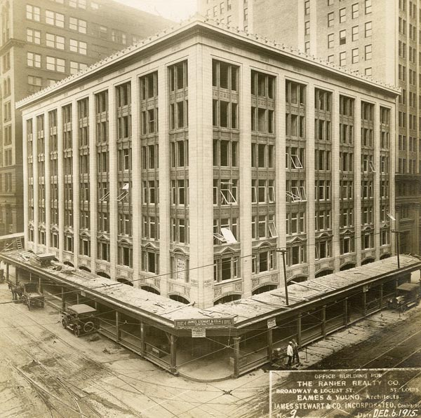 Historical photograph of the Marquette Annex Building located in St. Louis MO.