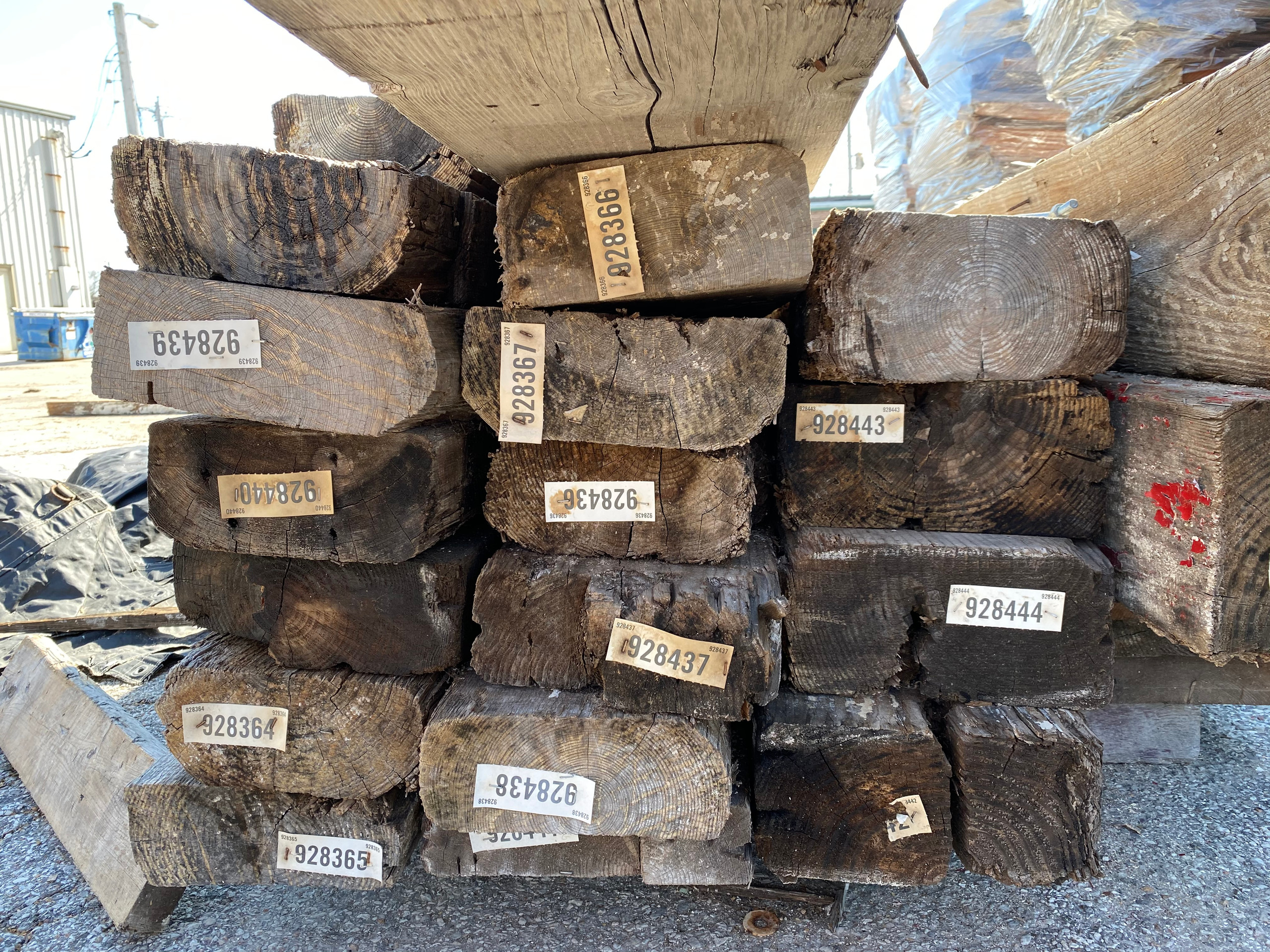 Longleaf old-growth pine and Douglas fir for sale at American Timber Salvage.