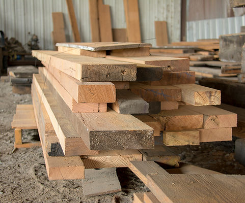 reclaimed lumber that has been milled