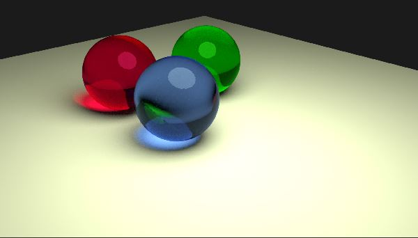 Blender glass spheres
