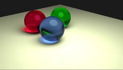 Blender glass spheres