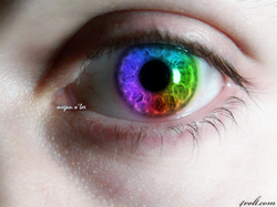 Photoshop rainbow eye by Megan