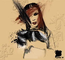 Alicia Keys' Theme Portrait by GTo' #267.