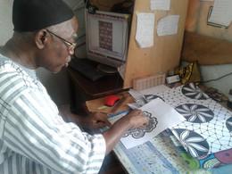 Exclusif! Mon dernier webdocumentaire avec Amadou Lamine Mbodji, dessinateur planchiste de motifs af