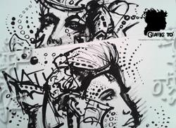 Black Ink portrait n°225: Life/Truth