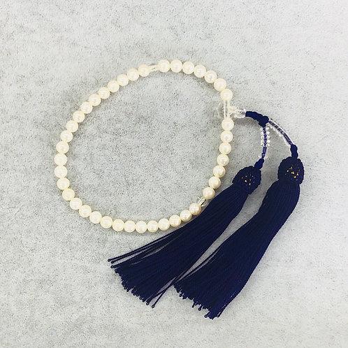 アコヤ真珠 片連 念珠 5.0mm