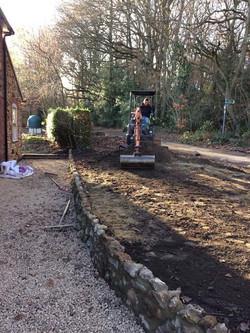 Turf preparation in Ightham, Kent