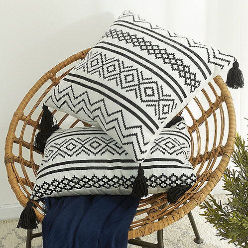 Bohemia Tassels Throw Pillow Covers