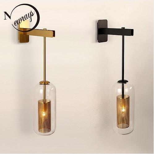 Retro Industrial 220V Metal Net Shade Wall Lamp