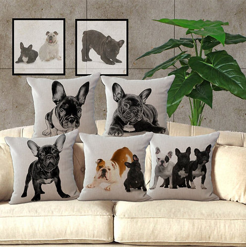 "French Bulldog  Throw Pillow  ""18X18''"