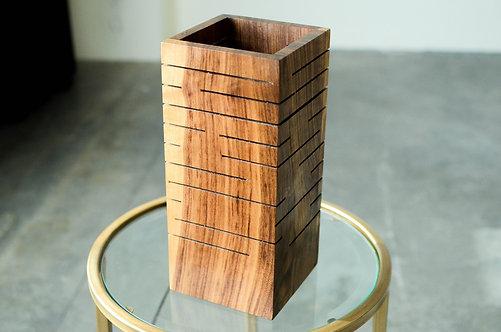 Modern Wood Slot Lamp