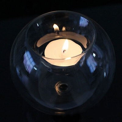 Round Hollow Glass Tea Light Candle Holder