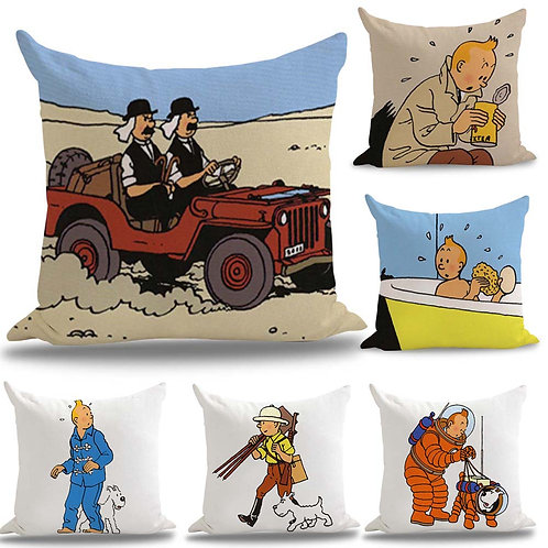 The Adventures of Tintin Comics Pillow Cover