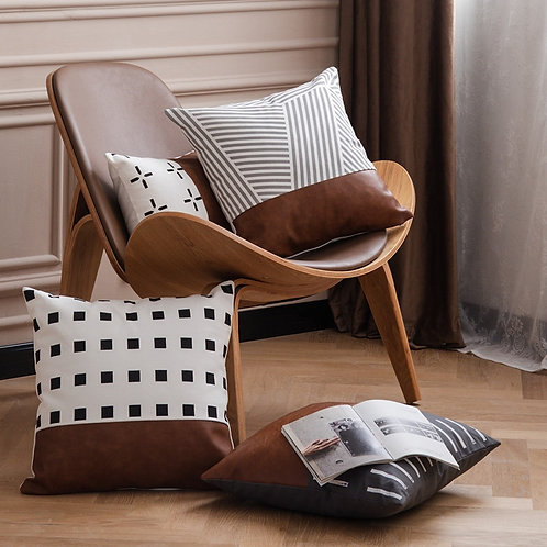 Faux Leather Cushion Covers