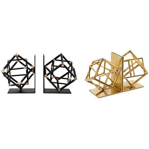 Geometric Metal Bookends