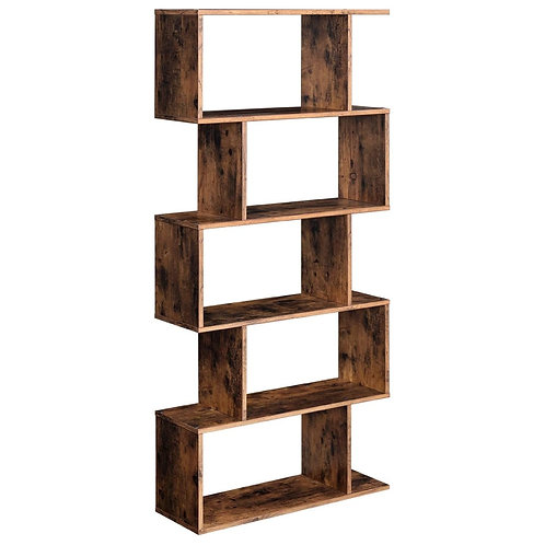 Staggered Wooden Bookcase