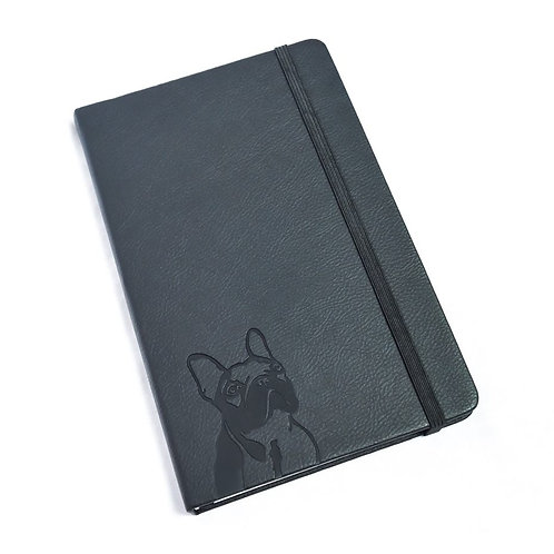 French Bulldog  Leather Notebook