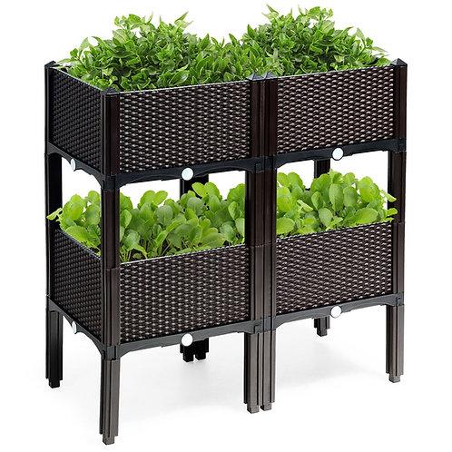Set of 4 Raised Garden Planters