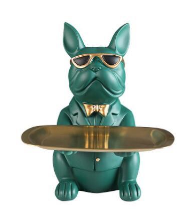Bulldog Statue Coin Bank