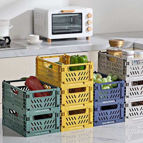 Folding Collapsible Plastic Storage Crate