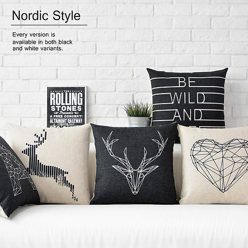 Black Decorative Pillows