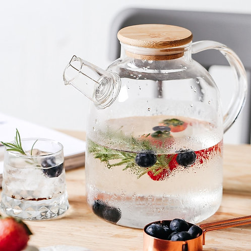 1l/1.5l Big Transparent Borosilicate Glass Teapot