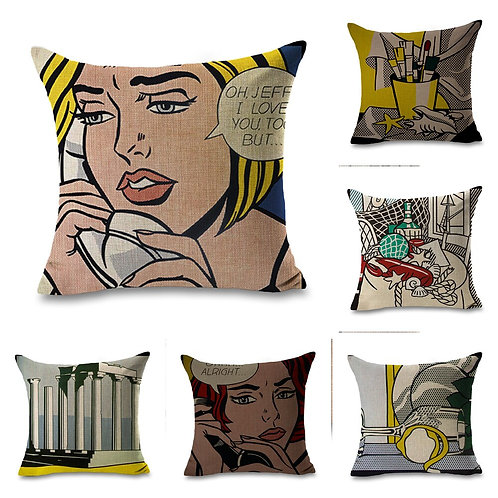 Roy Lichtenstein Pop Art Comics  Pillow