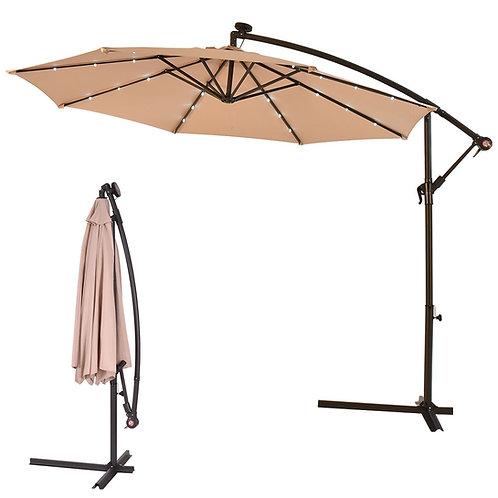 10' Hanging Solar LED Umbrella