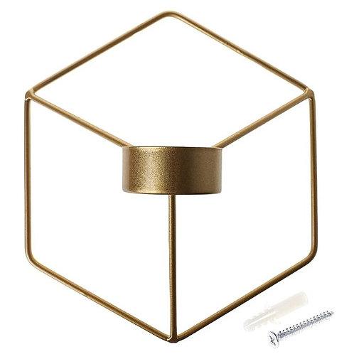 Iron 3D Geometric Candle Holders