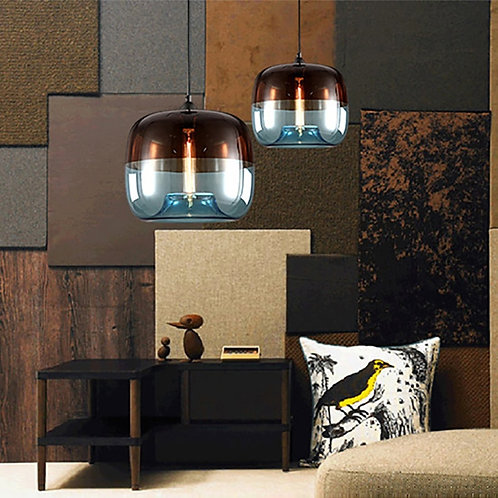 Modern Colorful Hanging Glass Pendant Lamp