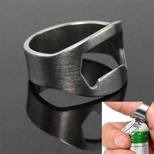 Mini Stainless Steel Finger Ring Ring Bottle Opener