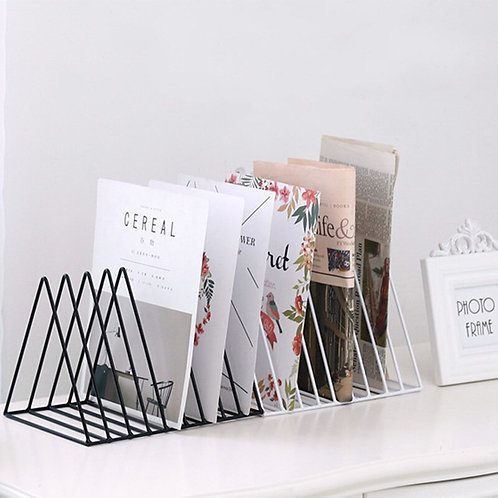 Iron Bookshelf Baskets
